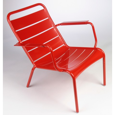 Lounger LUXEMBOURG de Fermob coquelicot
