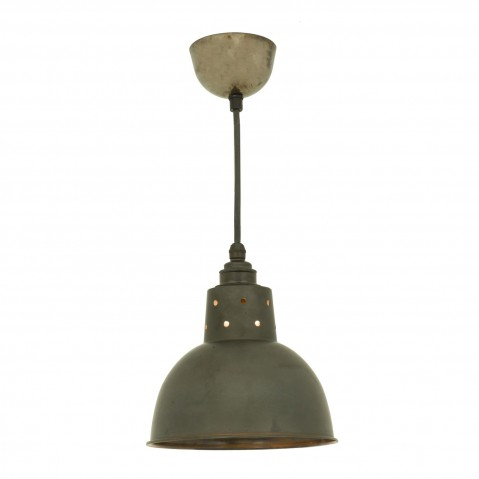 Suspension SPUN avec corde de Davey Lighting, Cuivre vieilli