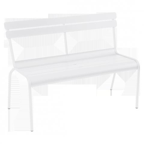Banc avec dossier LUXEMBOURG de Fermob blanc coton