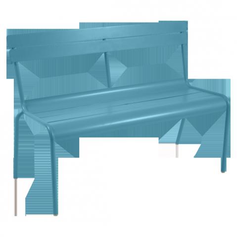Banc avec dossier LUXEMBOURG de Fermob bleu turquoise