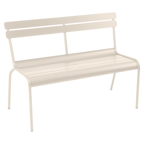 Banc avec dossier LUXEMBOURG de Fermob lin