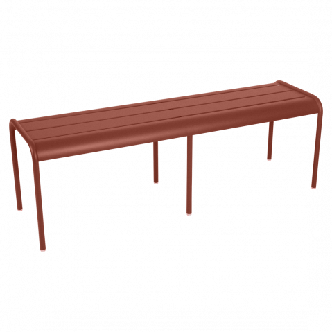 Banc LUXEMBOURG de Fermob, ocre rouge