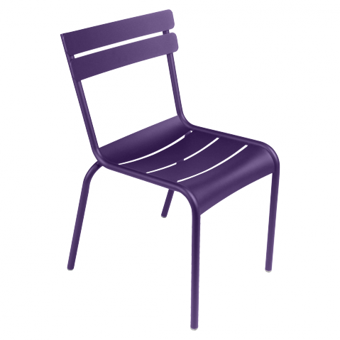 Chaise LUXEMBOURG de Fermob aubergine