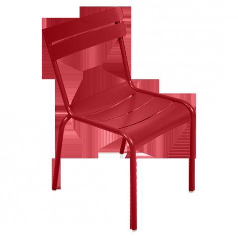 Chaise LUXEMBOURG de Fermob coquelicot