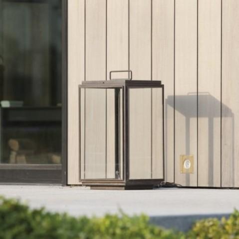 Lumignon Nautic ILFORD FLOOR - LED bronze antique verre clair