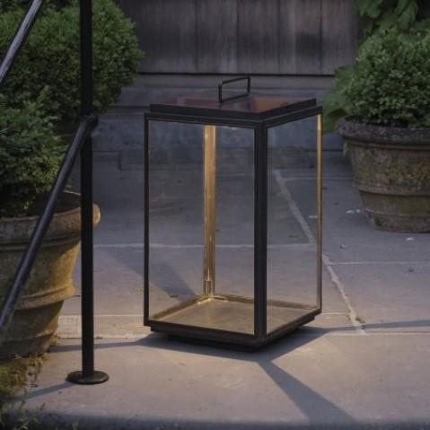 Lumignon Nautic ILFORD FLOOR LARGE - LED ON BATTERY bronze antique verre clair