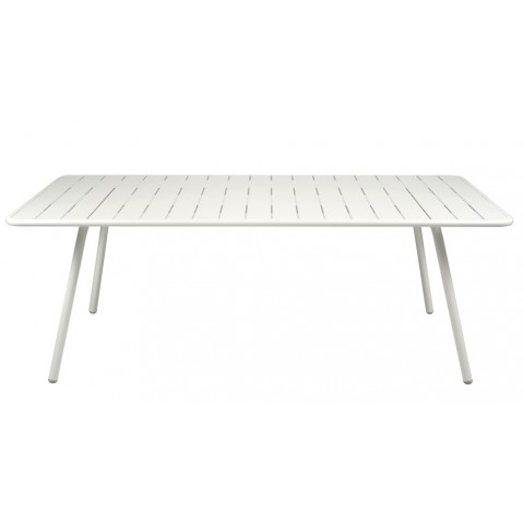 Table rectangulaire LUXEMBOURG de Fermob blanc