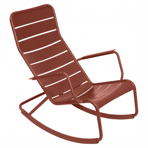 Rocking chair LUXEMBOURG de Fermob, ocre rouge