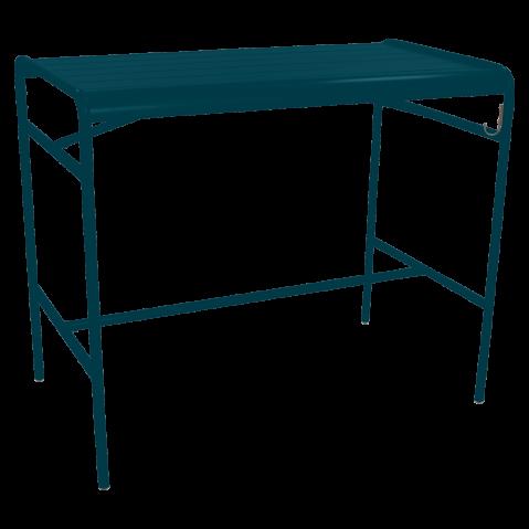 Table haute LUXEMBOURG de Fermob, bleu acapulco