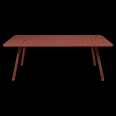 Table LUXEMBOURG pour 8 personnes de Fermob, ocre rouge