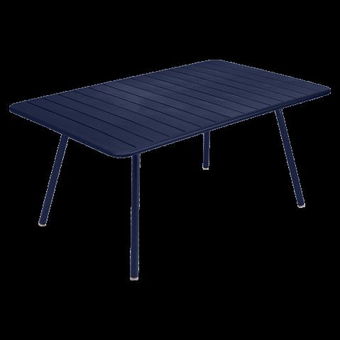 Table rectangulaire confort 6 LUXEMBOURG de Fermob, Bleu abysse