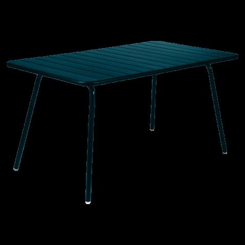 Table rectangulaire confort 6 LUXEMBOURG de Fermob, bleu acapulco