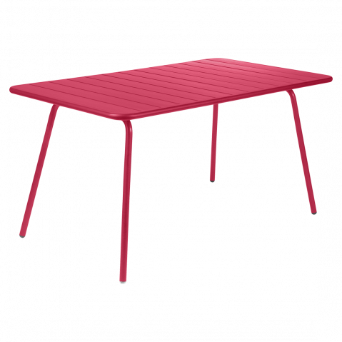 Table rectangulaire confort 6 LUXEMBOURG de Fermob, Rose praline