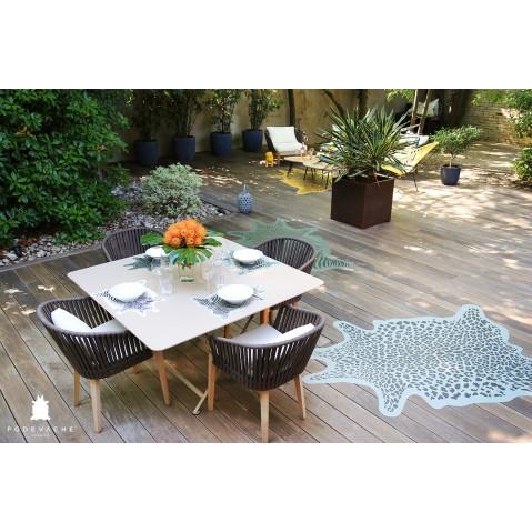 Set de table set d co z bre de p devache 7 coloris for Deco zebre