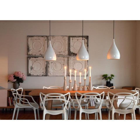 chaise masters de kartell gris. Black Bedroom Furniture Sets. Home Design Ideas