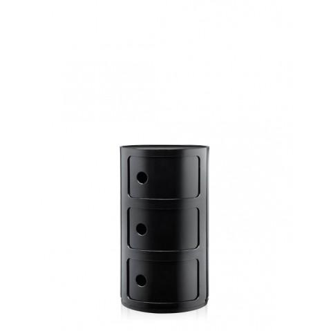 Meuble de rangement COMPONIBILI de Kartell, grand modèle, Noir