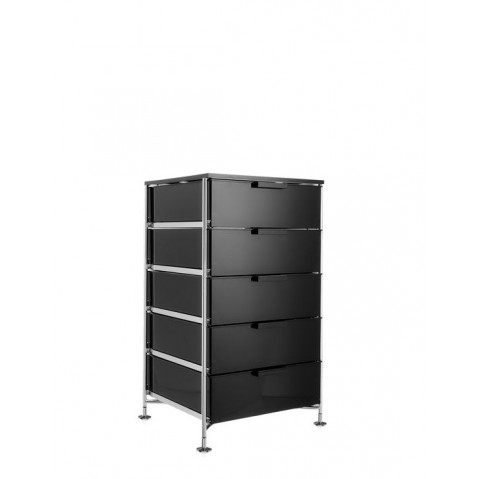 meuble de rangement mobil cinq tag res de kartell fum brillant simple. Black Bedroom Furniture Sets. Home Design Ideas