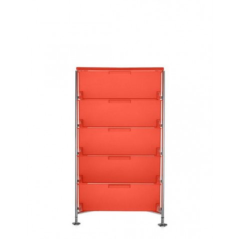 Meuble de rangement MOBIL Cinq étagère de Kartell, Orange, Simple