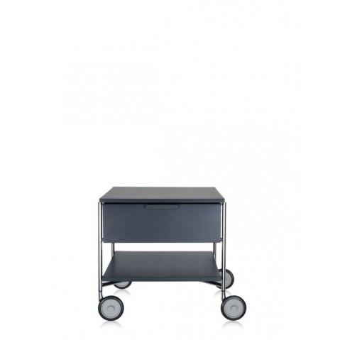 Meuble de rangement MOBIL de kartell, Ardoise Opaque, Avec roulettes