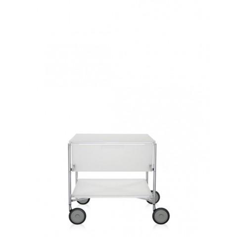Meuble de rangement MOBIL de kartell, Blanc Glace, Avec roulettes