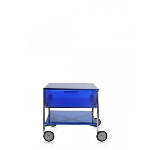 Meuble de rangement MOBIL de kartell, Bleu, Avec roulettes