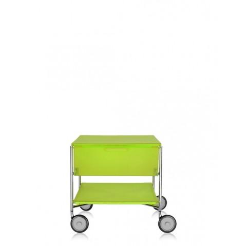 Meuble de rangement MOBIL de kartell, Jaune Cèdre, Avec roulettes