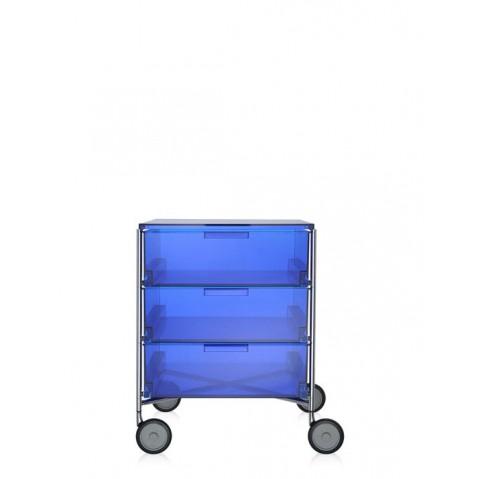 Meuble de rangement MOBIL trois étagère de Kartell, 7 coloris