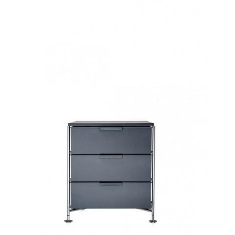 Meuble de rangement MOBIL trois étagère de Kartell, Ardoise Opaque, Simple