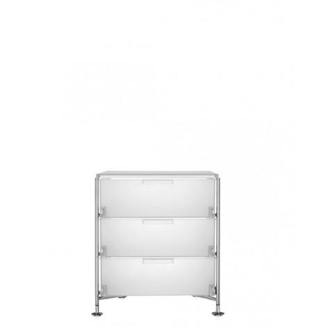 Meuble de rangement MOBIL trois étagère de Kartell, Blanc Glace, Simple