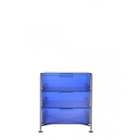 Meuble de rangement MOBIL trois étagère de Kartell, Bleu, Simple