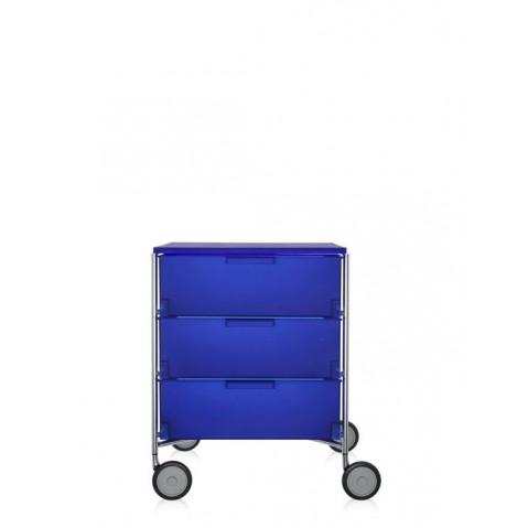 Meuble de rangement MOBIL trois étagère de Kartell, Colbat, Avec roulettes