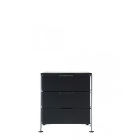 Meuble de rangement MOBIL trois étagère de Kartell, Fumé Brillant, Simple