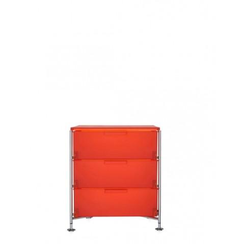 Meuble de rangement MOBIL trois étagère de Kartell, Orange, Simple
