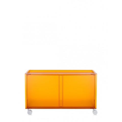 Meuble de rangement ONE avec roulettes de Kartell, Orange