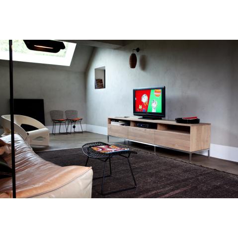 meuble tv oak ligna d 39 ethnicraft 3 tiroirs. Black Bedroom Furniture Sets. Home Design Ideas