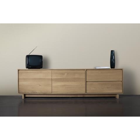 meuble tv oak wave en ch ne d ethnicraft table de lit. Black Bedroom Furniture Sets. Home Design Ideas