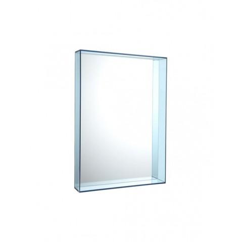 Miroir ONLY ME de Kartell, Bleu Azur, L.50 X H.70 X P.9