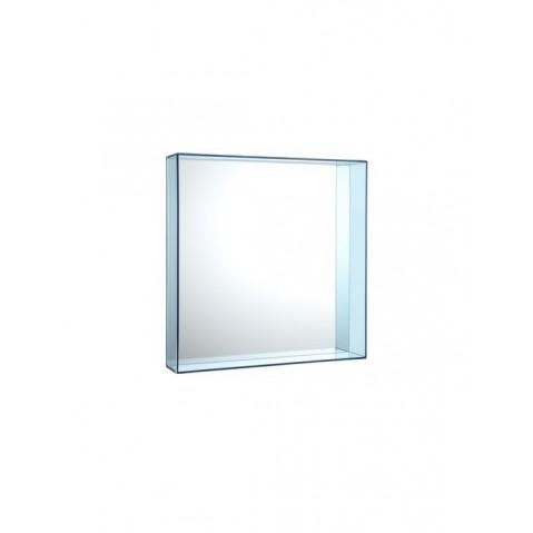 Miroir ONLY ME de Kartell, Bleu, L.50 X H.50 X P.9