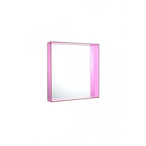 Miroir ONLY ME de Kartell, Fuchsia, L.50 X H.50 X P.9