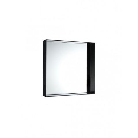 Miroir ONLY ME de Kartell, Noir Opaque, L.50 X H.50 X P.9