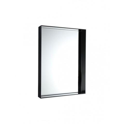Miroir ONLY ME de Kartell, Noir Opaque, L.50 X H.70 X P.9
