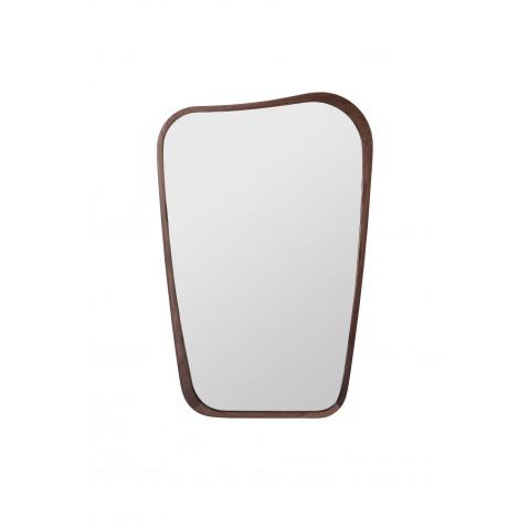 Miroir organique de sarah lavoine 63 x 90 noyer for Sarah riani miroir miroir