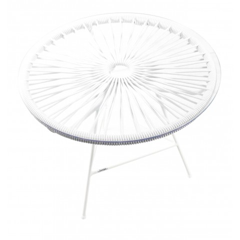 Table basse ZIPOLITE de Boqa avec structure blanche, Blanc d'argent