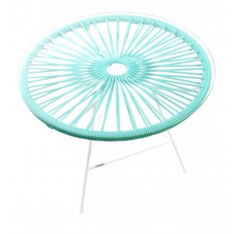 table basse zipolite de boqa avec structure blanche vert turquoise. Black Bedroom Furniture Sets. Home Design Ideas