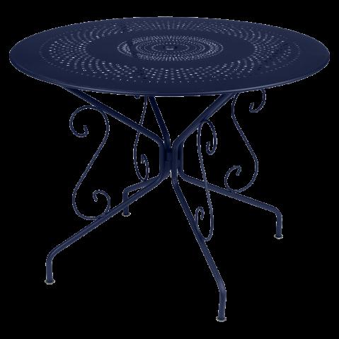 Table MONTMARTRE de Fermob D. 96 Bleu abysse