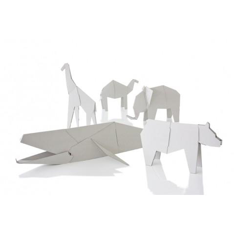 figurine d 39 animaux en carton my zoo de magis 2 tailles 5 formes. Black Bedroom Furniture Sets. Home Design Ideas