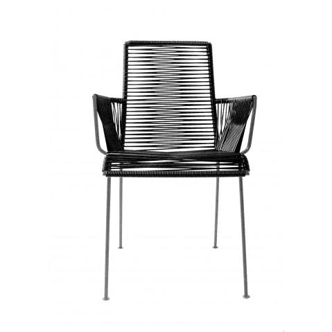 Chaise MAZUNTE COCOON de Boqa avec structure noir, 13 coloris