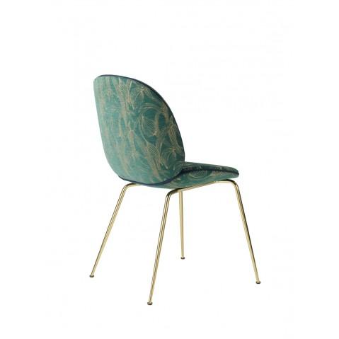 chaise beetle fully upholstered avec pieds en laiton de gubi 4 coloris. Black Bedroom Furniture Sets. Home Design Ideas