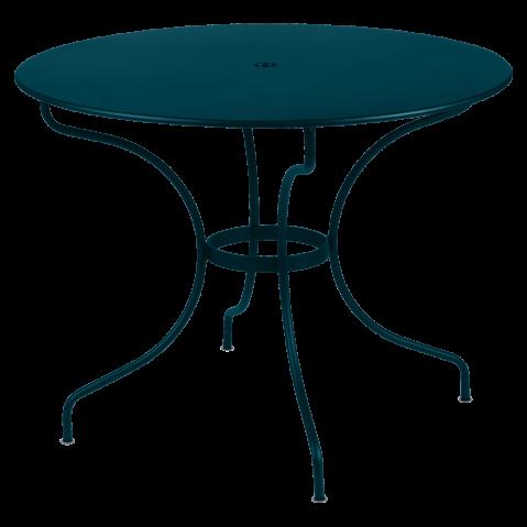 Table ronde OPÉRA D.96 de Fermob, bleu acapulco