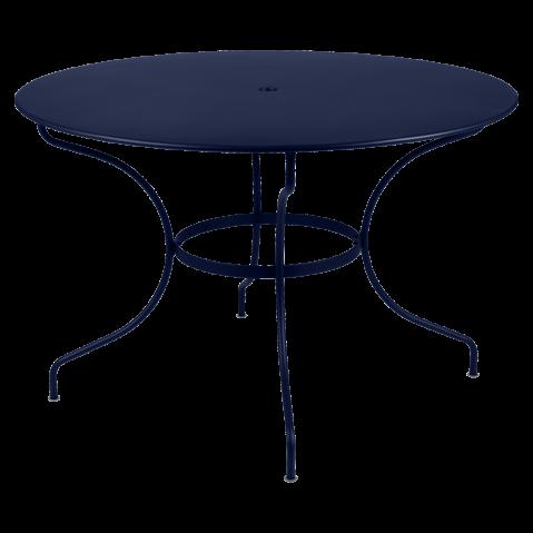Table ronde OPÉRA D.96 ou D.117 cm de Fermob, D. 117, Bleu abysse